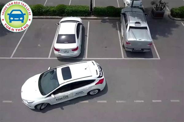Dừng xe và bật đèn cảnh báo khi lùi xe ô tô