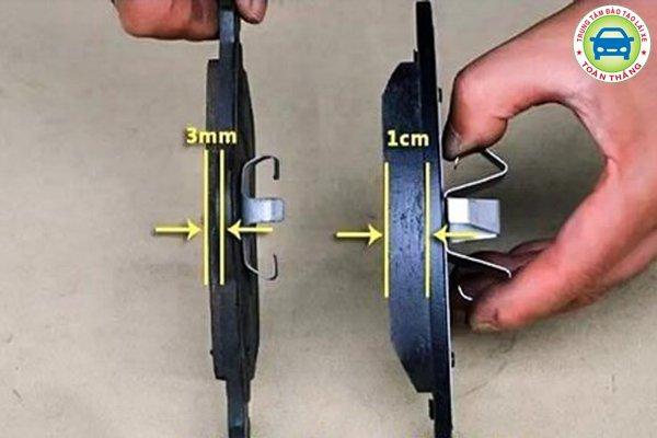 Bố phanh mỏng hơn 3mm