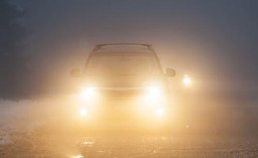 lái xe trong sương mù